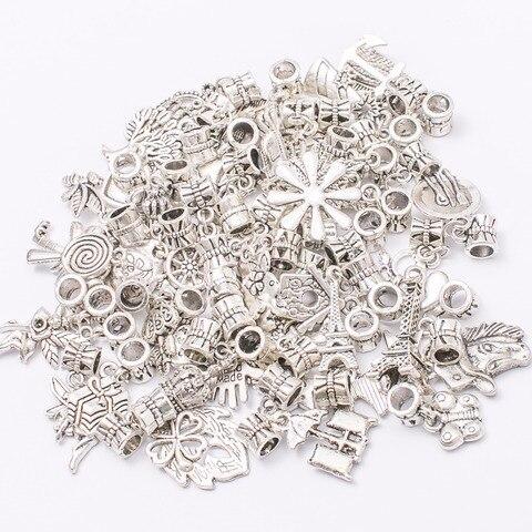 Микс 50 шт/50 различных шармов тибетская серебряная подвеска