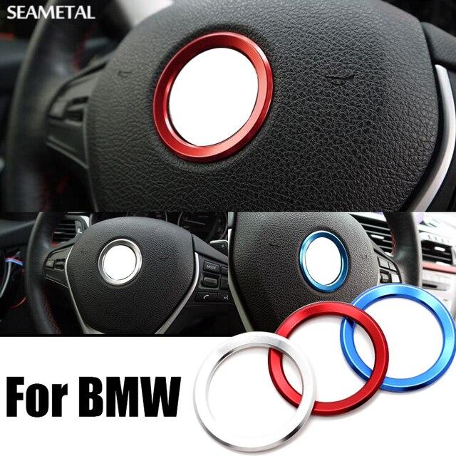 For BMW E34 E30 E60 E36 E39 E46 E30 E60 E90 E92 F10 F30 F25 Ca Steering Wheel Circle Covers Interior Decoration Auto Accessories