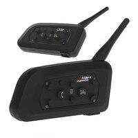 2Pcs Interphone Bluetooth 6 Riders Motorcycle Helmet Interphone Headset Intercom V610 1200M Wireless Intercomunicador BT