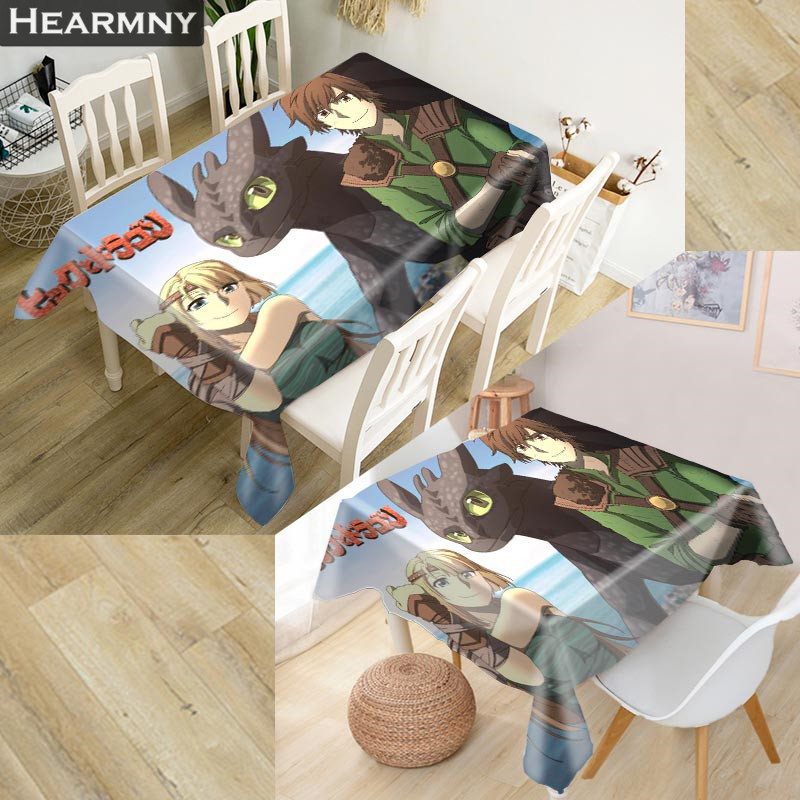 New Arrival Custom How To Train Your Dragon Tablecloth Kitchen Dining Table Decorations Home Rectangular Party Table Covers