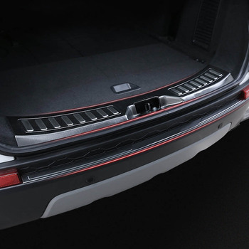 lsrtw2017 stainless steel car trunk protective panel cover trims for land rover discovery sport 2014 2015 2016 2017 2018 2019