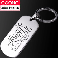 QOONG Personalized Calendar Custom-made Metal Card Key Chain