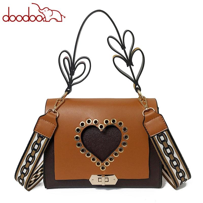 2018 New Wide Shoulder Straps Leather Luxury Messenger Women Bag Fashion High Quality Casual Crossbody Handbag Flap Channels Bag
