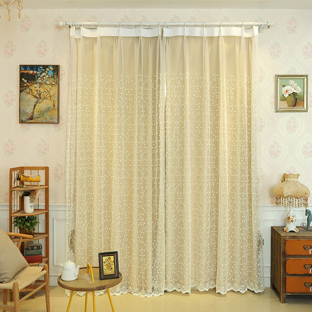 Beige Tulle Curtains For Living Room Translucent Bedroom Kitchen Roma Ceiling Window Screens Custom Made