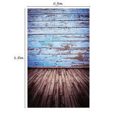 0.9*1.5 m Pano de Fundo do Estúdio de Arte Parede Piso De Madeira Fantasia Foto Adereços Backdrops para Estúdio de Fotografia