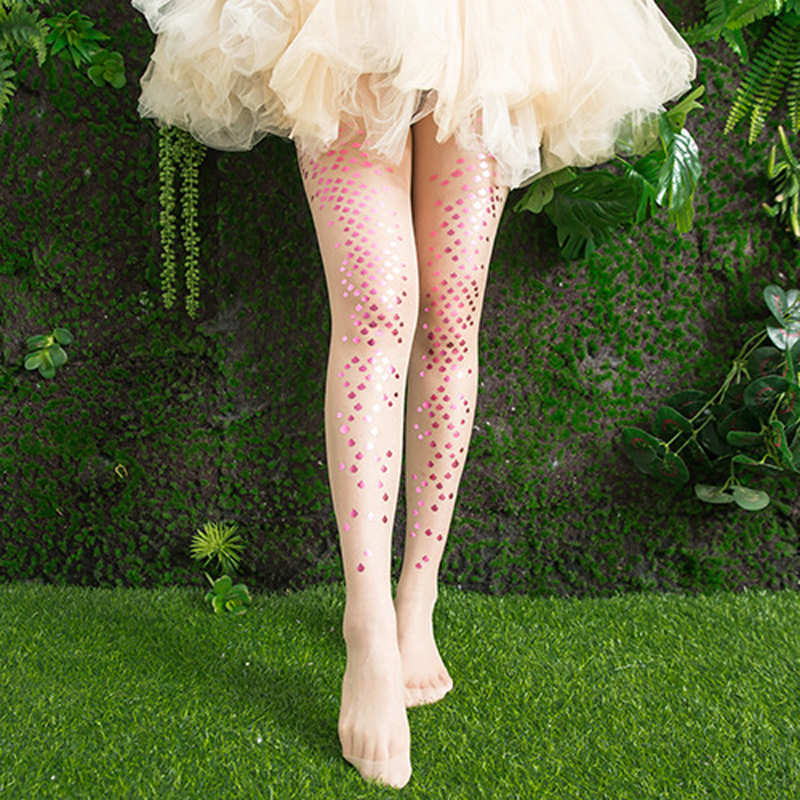 Sparkle Women Valentine Gift  Tights Party Silver Glitter Stocking Pantyhose 20D
