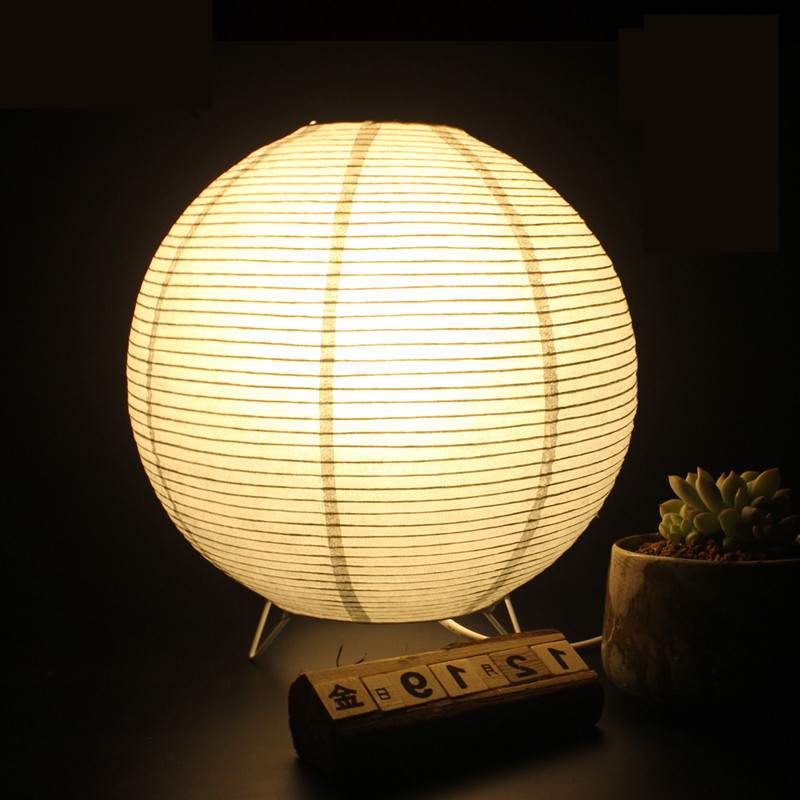Simple life creative decorative lamp vintage table lamp round desk lamp handmade origami - Hand made lamps ...