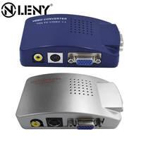 Onleny יחס ברזולוציה 1280x1024 VGA ל AV ממיר וידאו VGA ל וידאו מחשב לטלוויזיה VGA לטלוויזיה ממיר נייד כחול אפור
