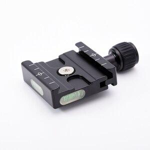 Image 3 - Placa adaptadora de abrazadera cuadrada de QR 50 PU 50 con gradiente para placa de liberación rápida para rótula de bola de trípode Arca Swiss RRS Wimberley
