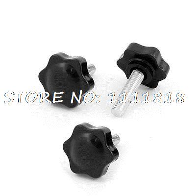 M10 x 30mm Male Thread 40mm Star Shaped Head Clamping Knob Black 3 PCS soft case back cover for lenovo zuk z2