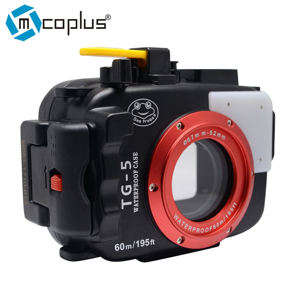 Mcoplus 40m/130ft Waterproof Designed/Underwater Housing Camera Case for Olympus TG-5 TG5 camera meikon 40m wp dc44 waterproof underwater housing case 40m 130ft for canon g1x camera 18 as wp dc44