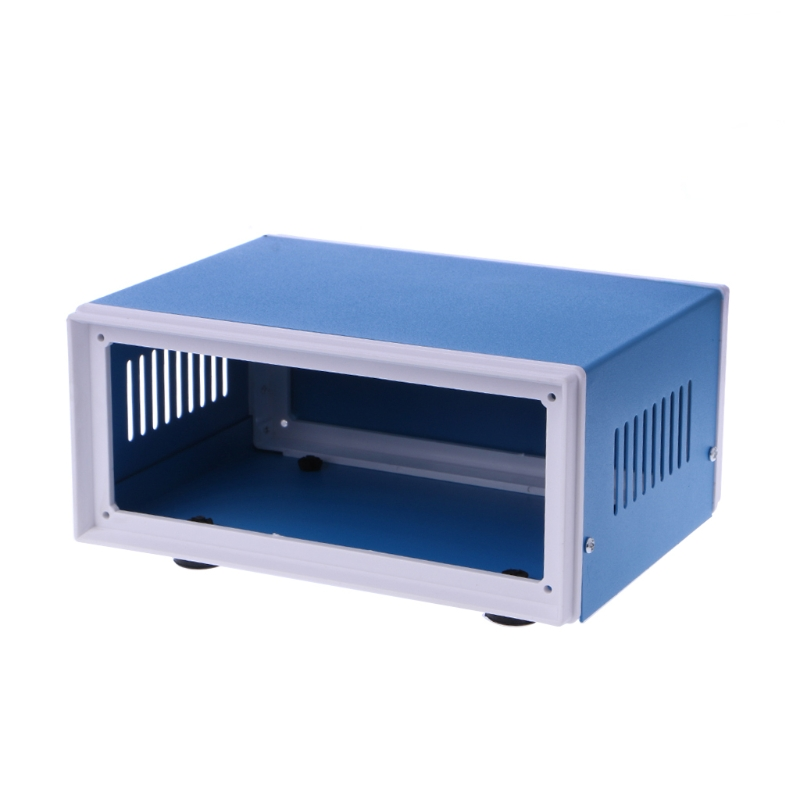 Blue Metal Enclosure Project Case DIY Junction Box 6.7 x 5.1 x 3.1 4pcs a lot diy plastic enclosure for electronic handheld led junction box abs housing control box waterproof case 238 134 50mm