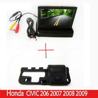 High Resolution 4.3 Color TFT LCD Folding Car Parking Assistance Foldable Car Monitor With RearView car Camera FOR Honda CIVIC
