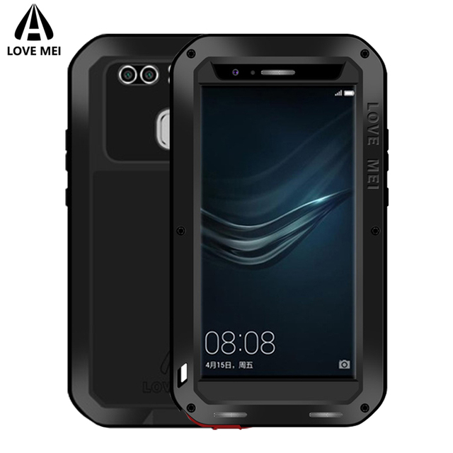 official photos 272ab 760d3 US $28.0 20% OFF|Love Mei Case For Huawei P9 P9 Plus Cover Powerful Metal  Aluminum Armor Shockproof Waterproof Case For Huawei P9 / P9 Plus Cover-in  ...