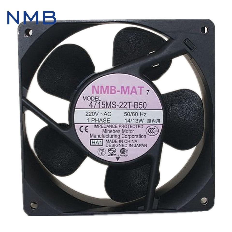 NMB new original converter fan fan 220V UPS 4715MS-22T-B50 Cabinet power supply fan 119*119*38mm ebm papst brand new original high temperature fan 4580n 1238 230v 18w ups power supply 119 119 38mm