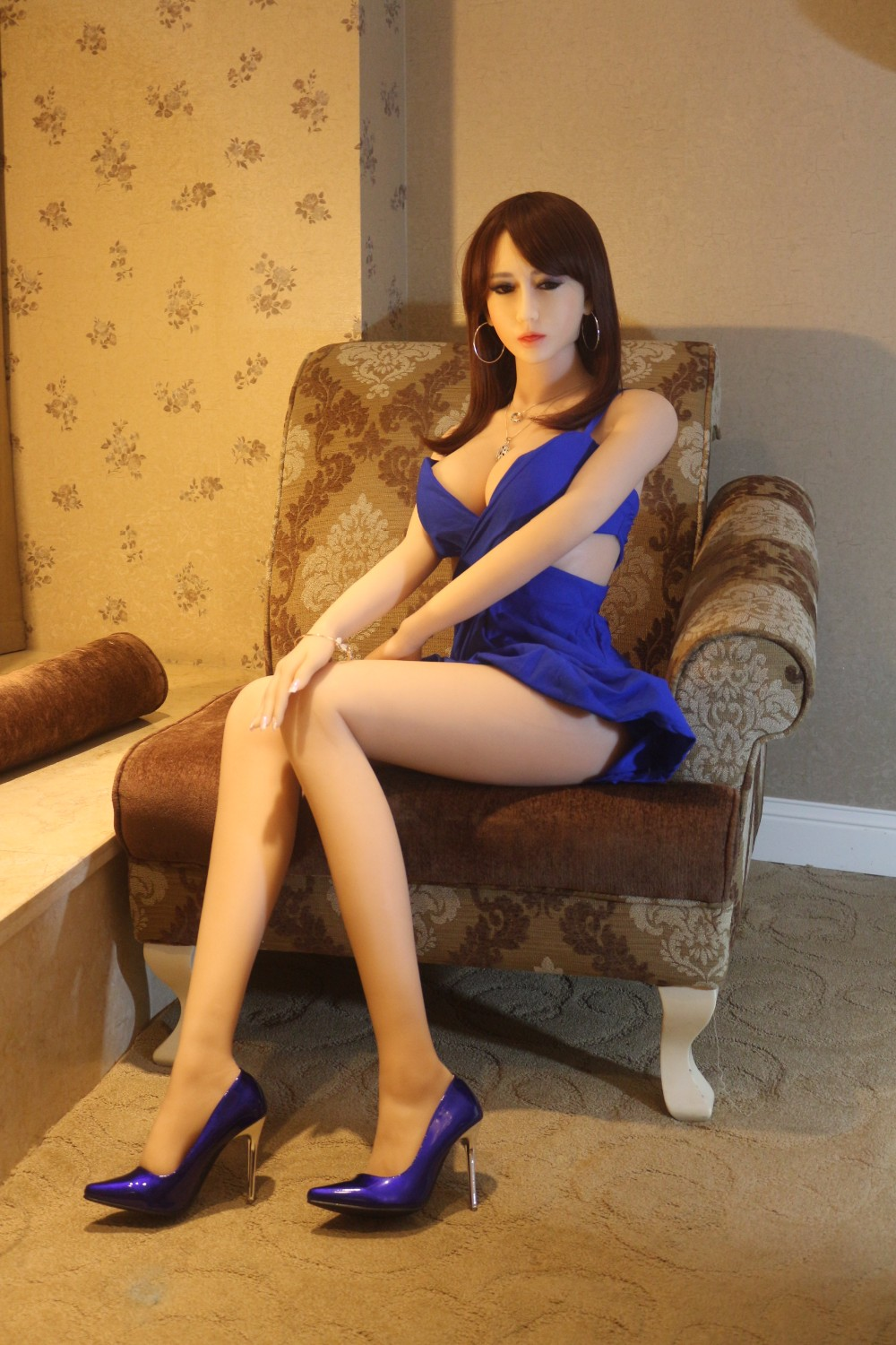Life size solid real silicone japanese anime sex doll realistic with metal skeleton for men NSM-165NAKED 1