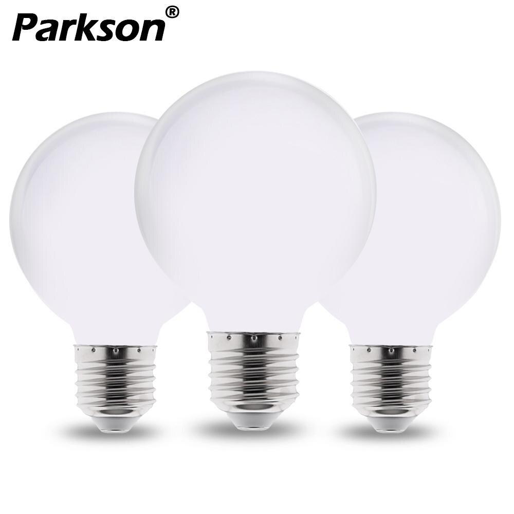 Milky LED Bulb E27 220V 110V 85-265V Lampada LED Lamp G80 G95 G125 Ampoule LED Light Bulb Cold/Warm White For Chandelier