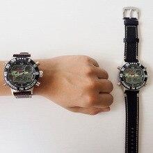 Досуг пояса часы высокого класса электронных военный завод точек водонепроницаемый спортивные часы мужчины Серебристых Тревоги часы военные