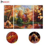 2016 New Diy Diamond Embroidery 5d Forests And Animals Pictures Of Mosaic Square Crystal Scenery Paintings