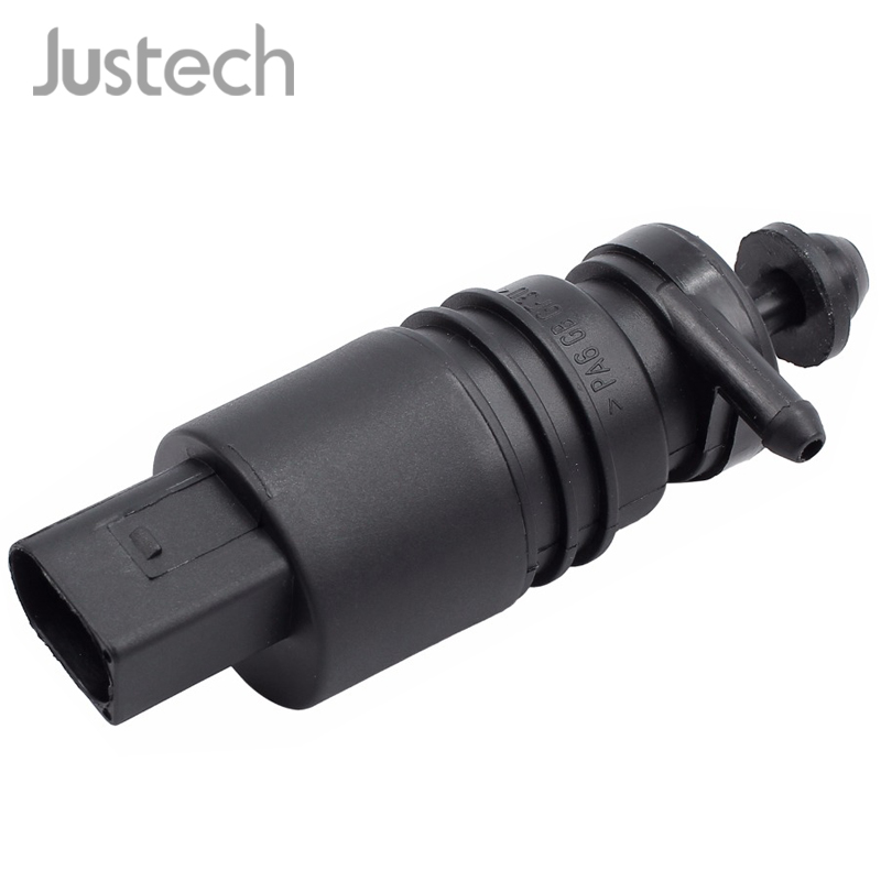 Justech Hot Car Windshield Water Pump For BMW AUDI VW MERCEDES-BENZ SEAT 2 port 12 Front Monopump Disc Cleaning Wash Water Pump image