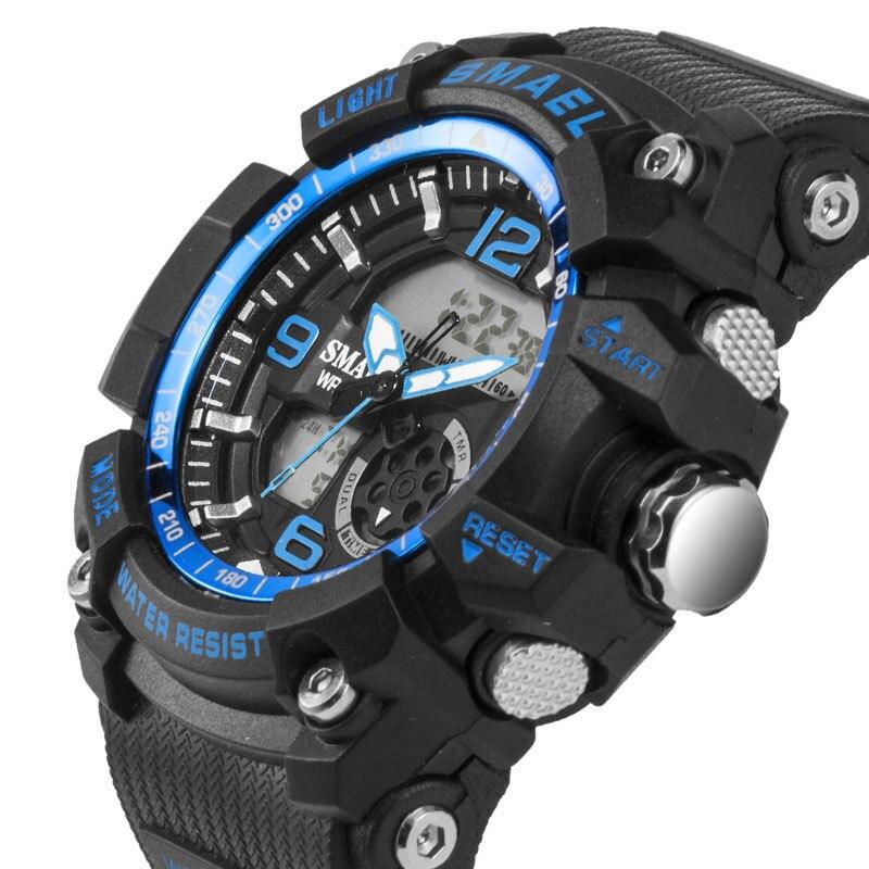 SMAEL Fashion Women Sport Watches Waterproof Ladies Student Multifunctional Wristwatch LED Digital Quartz White Watch Girl