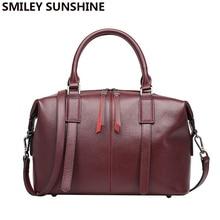 SMILEY SUNSHINE Luxury Handbag Women Bag Designer Genuine Leather Handbag Women Famous Brand Crossbody Messenger