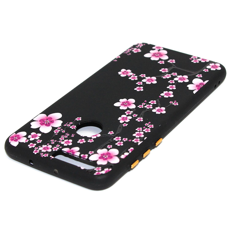 3D Relief flower silicone case huawei honor 8 (32)