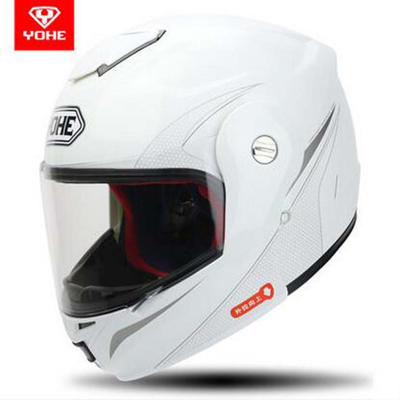2107 New Open Face motorcycle helmet YH-973 Flip Up motorbkie helmets Full face helmets Electric safety helmet Transparent lens 2017 new yohe full face motorcycle helmet yh 993 full cover motorbike helmets made of abs and pc visor lens have 5 kinds colors