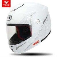 2107 New Open Face Motorcycle Helmet YH 973 Flip Up Motorbkie Helmets Full Face Helmets Electric