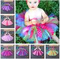 Kids Baby Girls Halloween Christmas Party Tutu Dancing Skirt Pettiskirt Costume rainbow tutu skirts