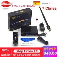 1 Année Europe C-ligne Serveur HD Freesat V8 Super DVB-S/S2 Récepteur Satellite Plein 1080 P Italie Espagne Arabe Avec USB Wifi récepteur