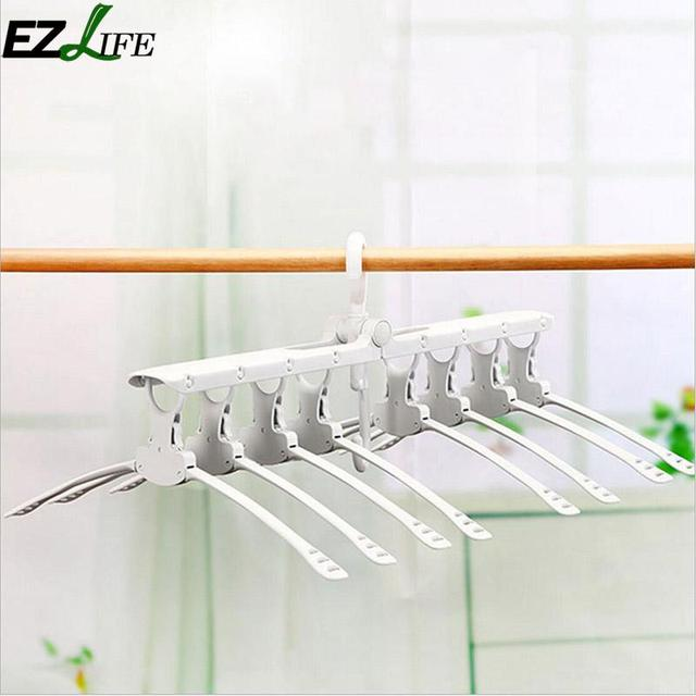 Multi functional Clothes Hanger White Big Telescopic Plastic Hangers ...