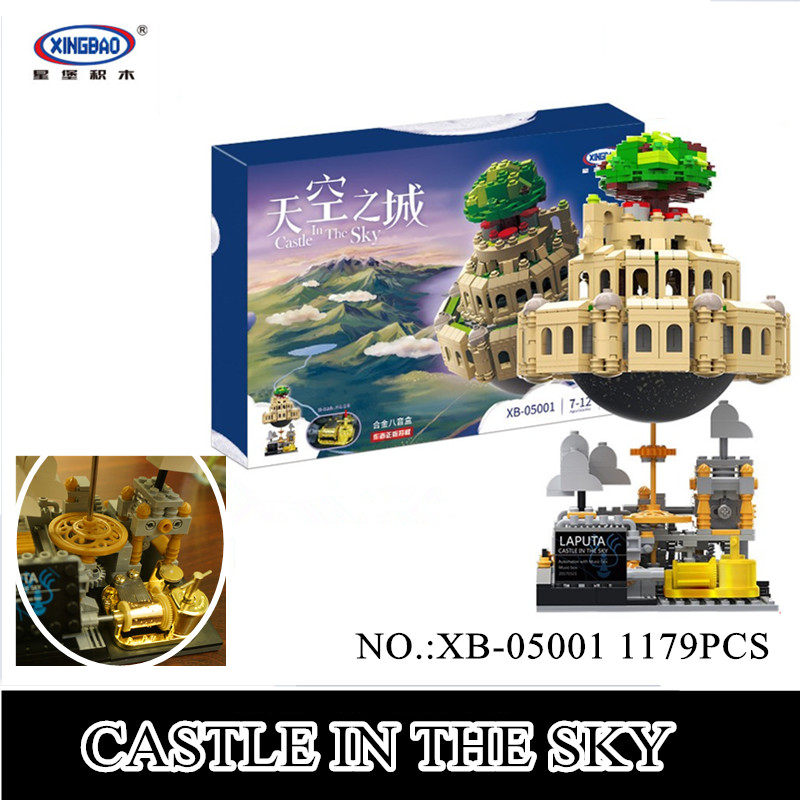 все цены на IN STOCK XingBao 05001 1179Pcs Genuine Creative MOC Series The City in The Sky Set Children Building Blocks Bricks Model Gift