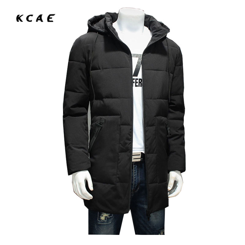 Winter men's Cotton clothing in the long section of Thicker coat  fattened cotton jacket Loose fat guy Windbreaker 8XL sky blue cloud removable hat in the long section of cotton clothing 2017 winter new woman