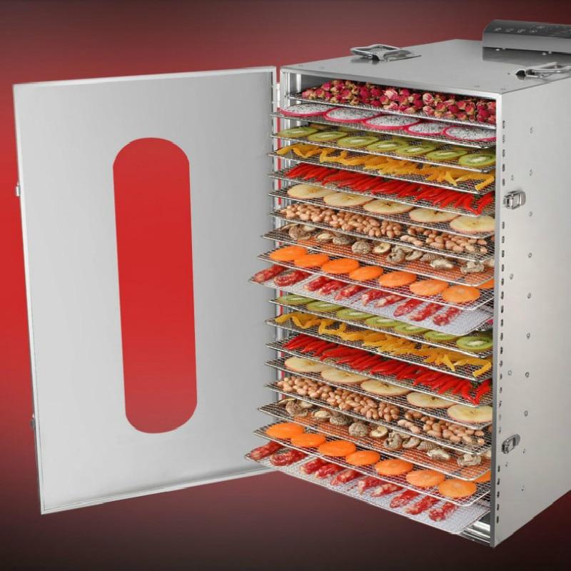 Profesional 20 capa comercial fruta secador de alimentos de acero inoxidable frutas vegetales carne del animal doméstico secador de aire eléctrica deshidratador