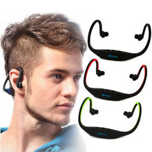 S9 Wireless Headphone Sport Bluetooth Earphone Support TF/SD Card FM True Cordless Earbuds Handsfree Headset with Mic for Phone(China)