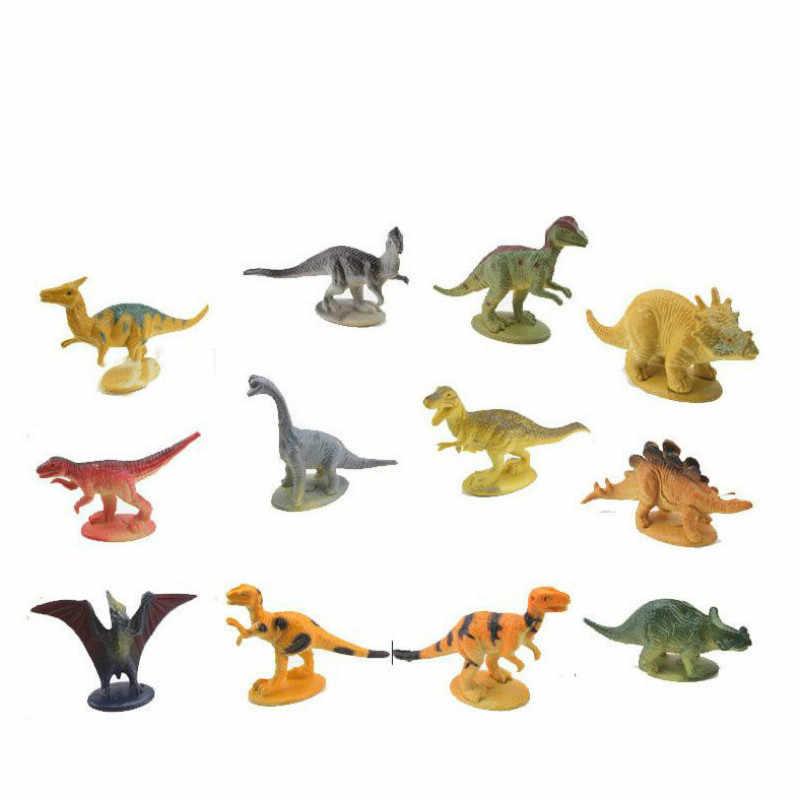 12 pçs/set mundo Dinossauro Parque Do Dinossauro Dragão Brinquedos para As Crianças