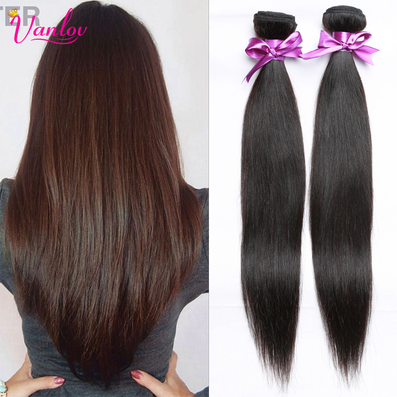 The Best Quality Peruvian Virgin Hair Straight 2 Hair Bundles Peerless Virgin Hair Top Hair Extensions Wholesale Price Color 1B