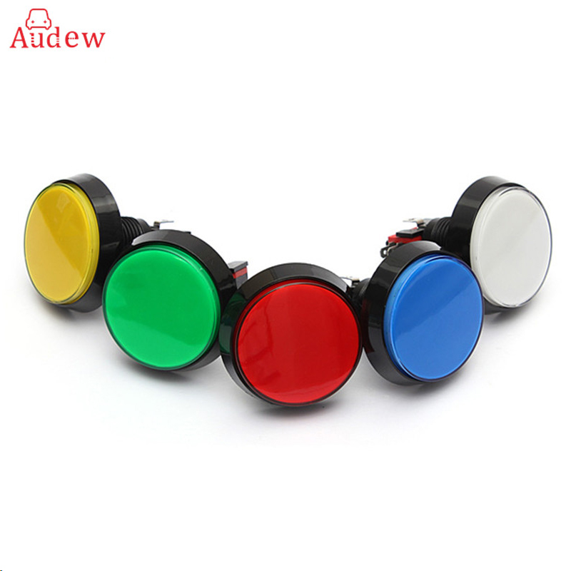 Hot 5 Colors LED Light Lamp 60MM Big Round Arcade Video Game Player Push Button Switch lucky john croco spoon big game mission 24гр 004