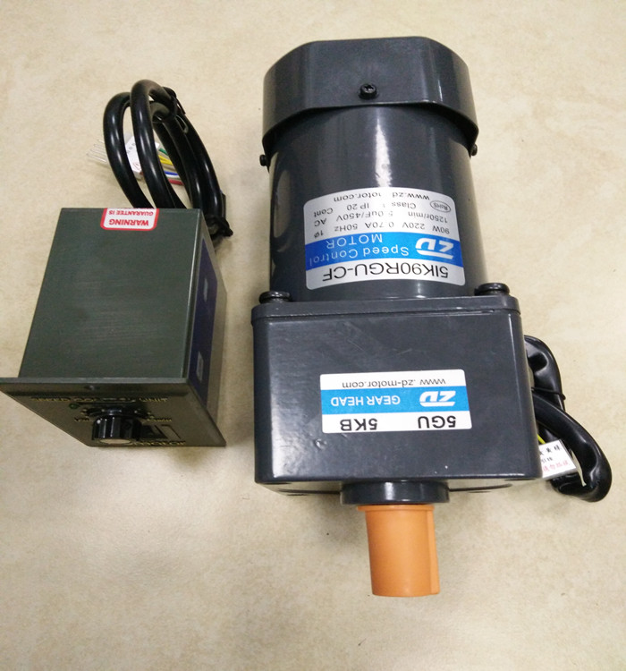 90W 220V 1 phase AC gear motors with speed control ratio 9:1 output speed is 166 <font><b>rpm</b></font> send to Beijing image