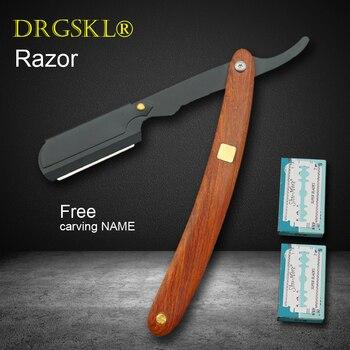 Nowe ręczne maszynki do golenia redwood uchwyt golarka męska maszynka do golenia profesjonalny fryzjer maszynka do strzyżenia włosów zmień typ ostrza nóż do golenia