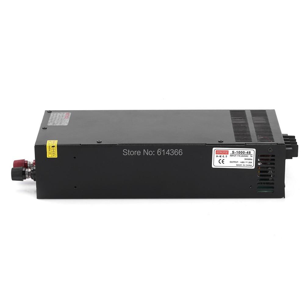 Wholesale 5PCS 1000W 20A 48V Switching power supply 48V for LED Strip light AC-DC 48V20A S-1000-48 1pcs 1000w 48v 20a switching power supply 48v20a led strip light ac to dc power suply 48v 1000w s 1000 48