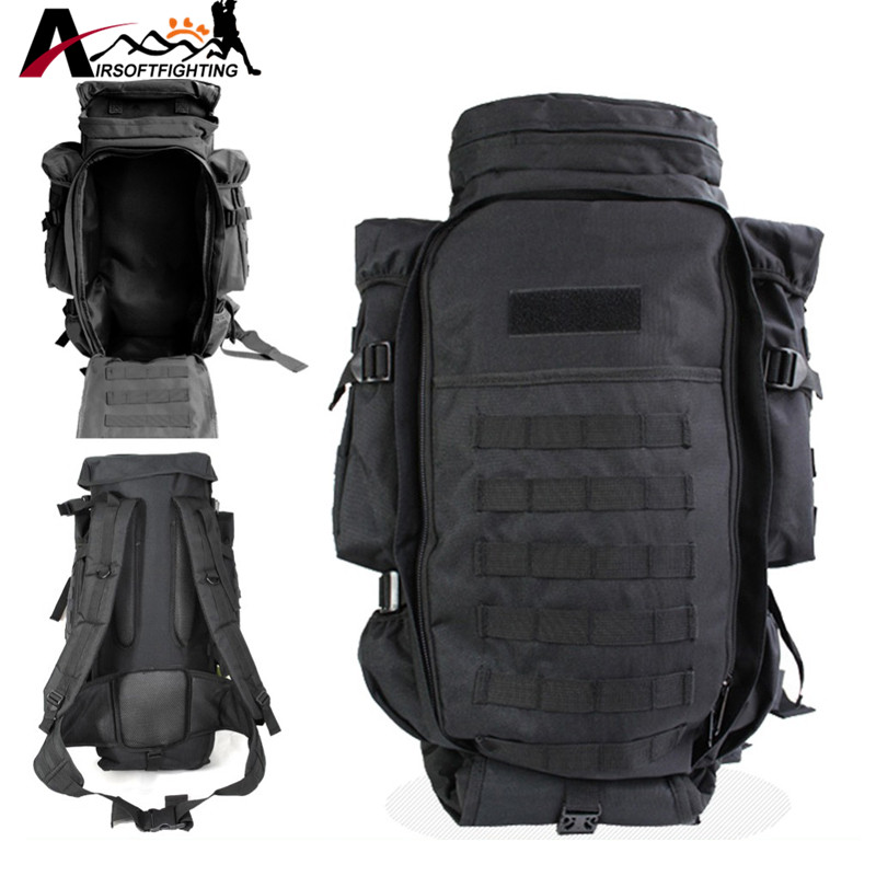 Military USMC Army Tactical Molle Rifle Backpack Hiking Hunting Camping Travel Rucksack Roll-Pack Gun Storage Fishing Rode Bag 40l tactical molle backpack military assault pack waterproof rucksack hiking camping travel large school lantop backpack
