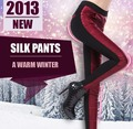 Winter warm pants for women/100% silk fabric padding/New 2013/Exclusive own fashion design/Women trousers/4 colors for options