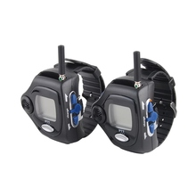 20 Channel Wrist Watch Style Walkie Talkie with Rechargable Li-ion Battery and Big Backlit LCD Screen, 1 Pair, 2-Way Radio