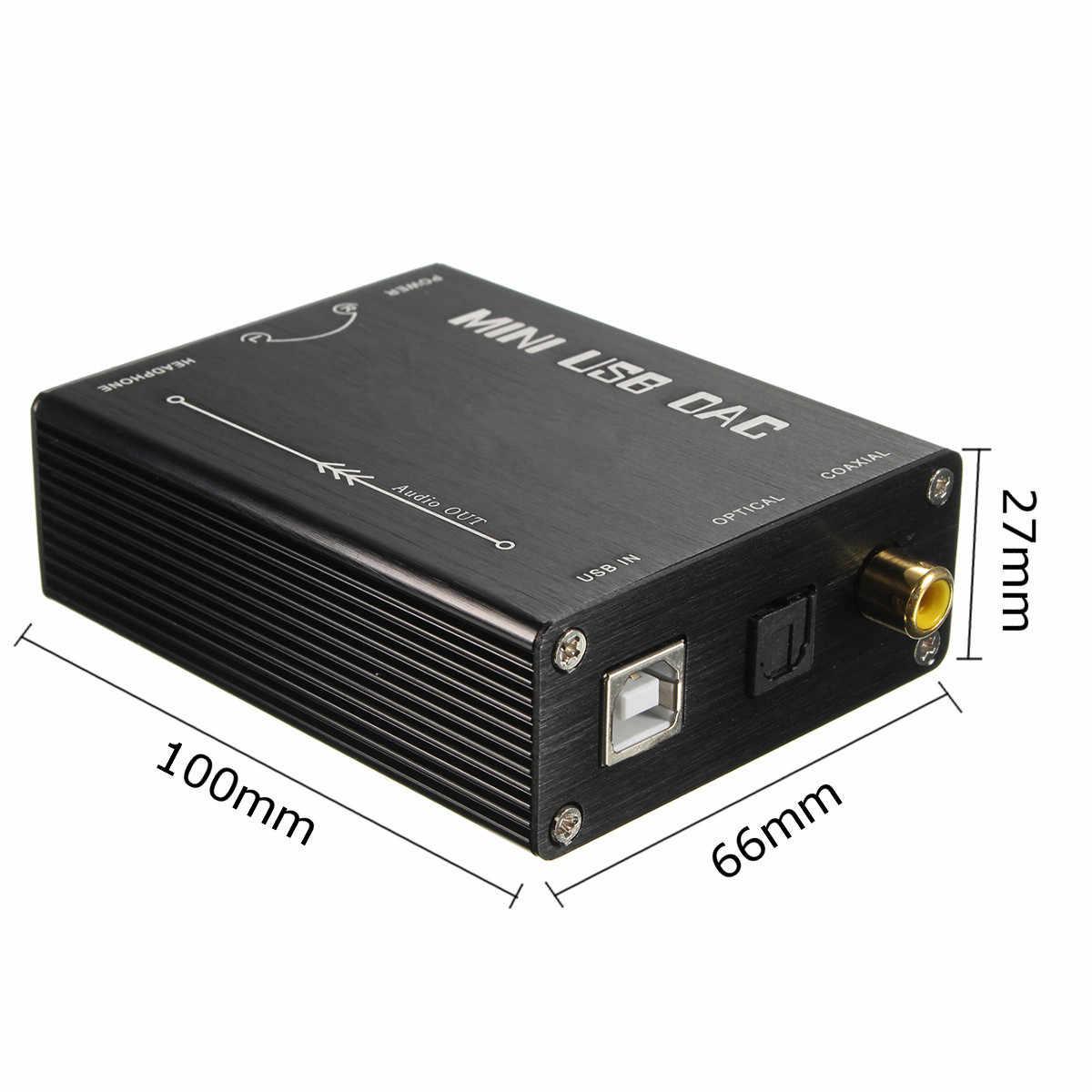LEORY ハイファイ USB サウンドカードの Dac S/PDIF PCM2704 デジタルアナログオーディオコンバータ光同軸 DAC デコーダプロコンバータ