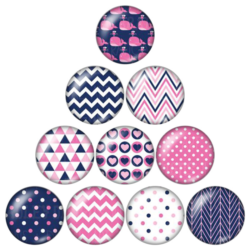 New Beauty Patterns 10pcs 12mm/18mm/20mm/25mm Round photo glass cabochon demo flat back Making findings ZB0543