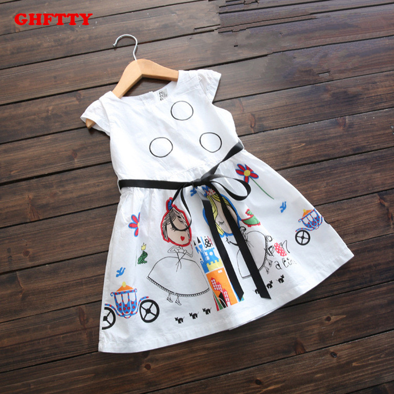 Подробнее о Girls Summer Dress Kids Clothes 2017 Brand Baby Girl Dress with Sashes Robe Fille Character Princess Dress Children Clothing baby girl dress 2016 brand girls summer dress children clothing lemon print kids dresses for girls clothes robe princesse fille