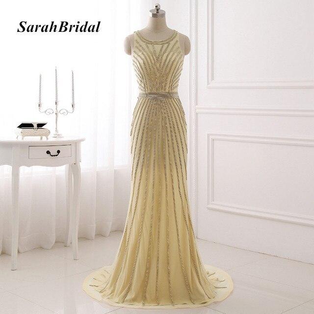 Real Photo Formale Abendkleider Kleider Sparkly 2017 Prom Kleider ...