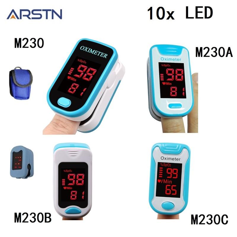 10pcs LED Oximetro Fingertip Pulse Oximeter De Pulso Dedo Home Pulse Oxymeter Pulsioximetro finger Heart Rate